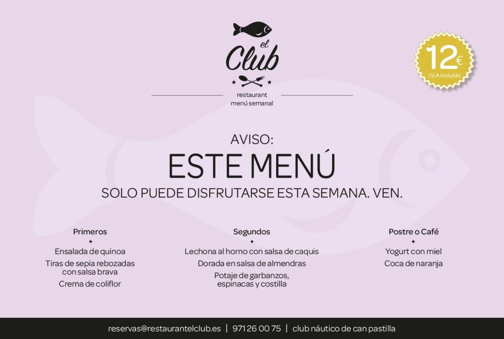 menu de esta semana club mar timo san antonio de la playa